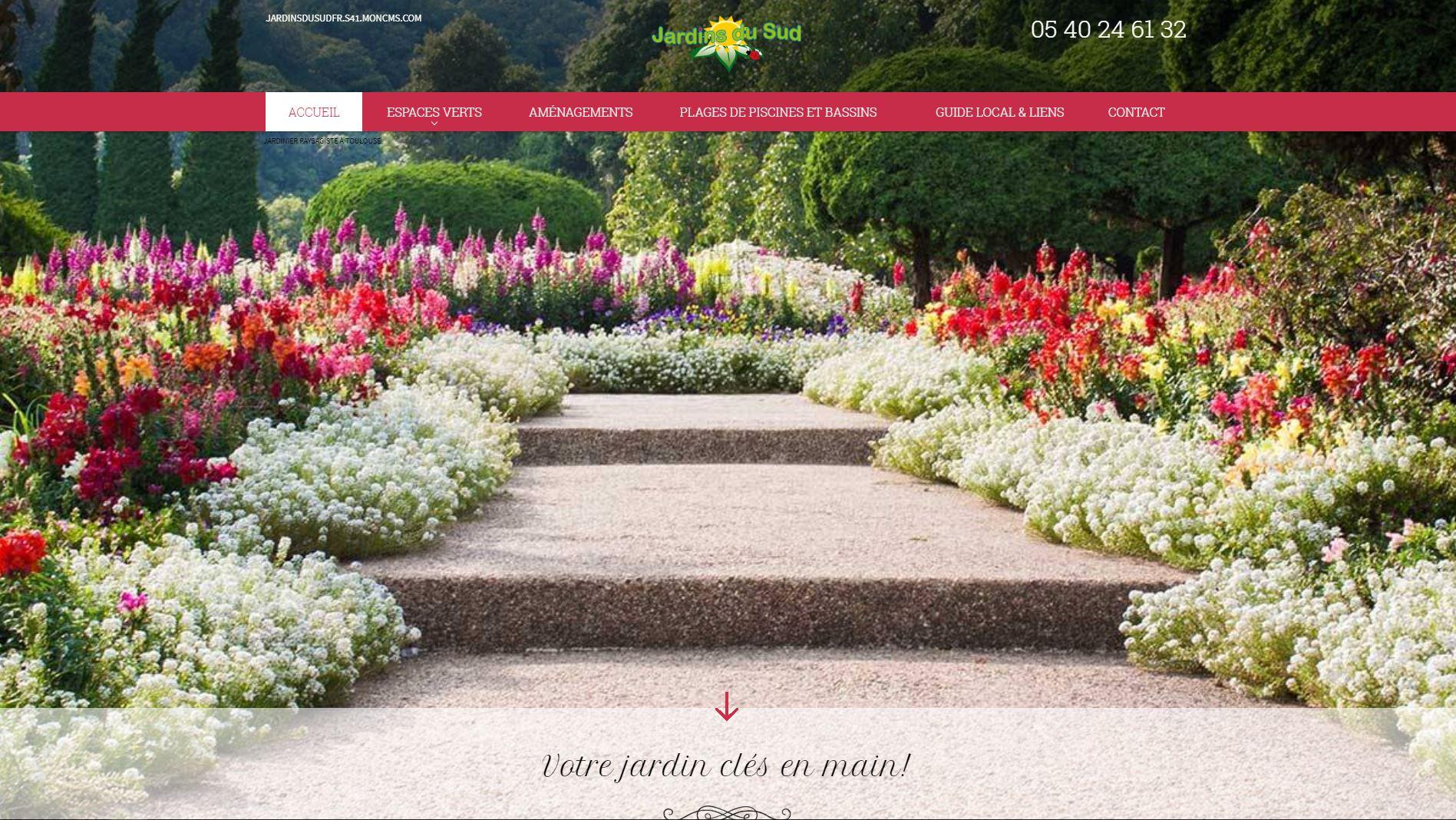 paysagiste toulouse les jardins du sud agence web marseille jalis. Black Bedroom Furniture Sets. Home Design Ideas