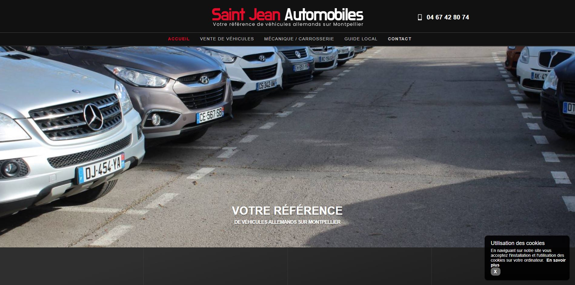 Nos r alisations de sites web pour professionnels marseille for Garage gimel montpellier