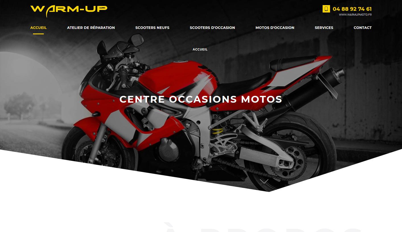 Cr ation site web pour garage moto aubagne warm up for Site internet pour garage automobile