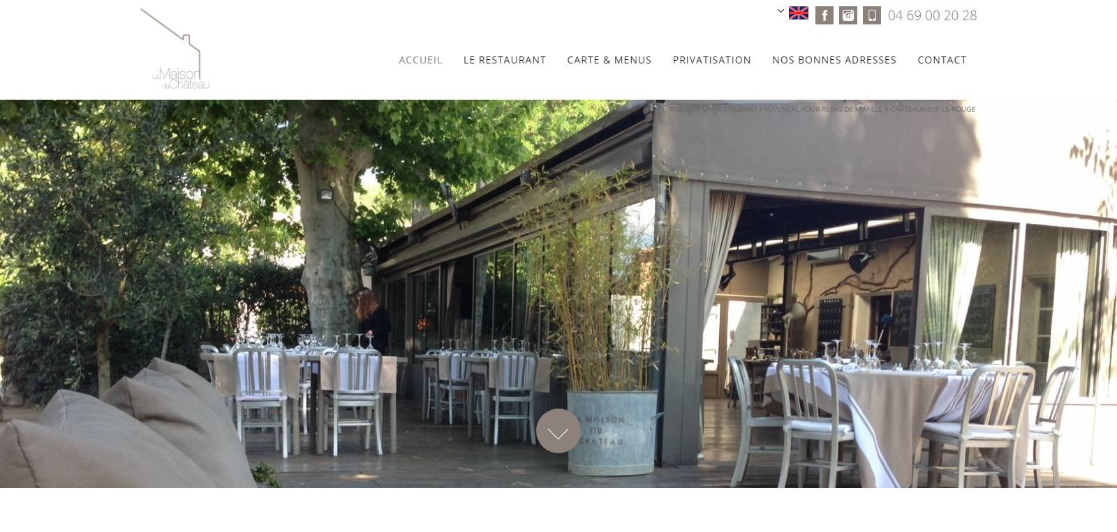 Réalisation d un site web pour un restaurant provençal à Châteauneuf ... 5708f4bfeaec