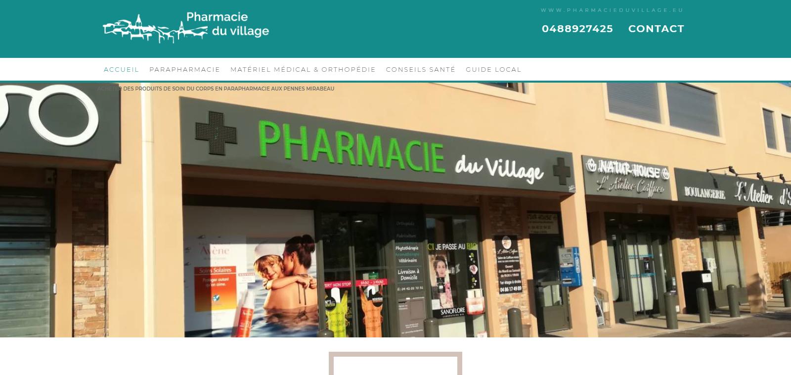 Création du site internet d une parapharmacie aux Pennes Mirabeau ... 2a877d2f0d74