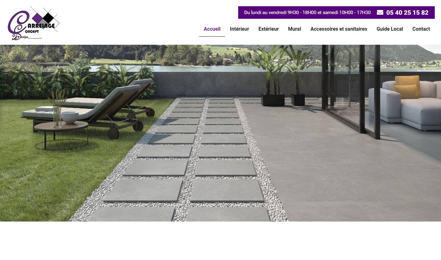 Creation De Site Internet Pour Un Magasin De Carrelage A Bordeaux Carrelage Concept Design Jalis