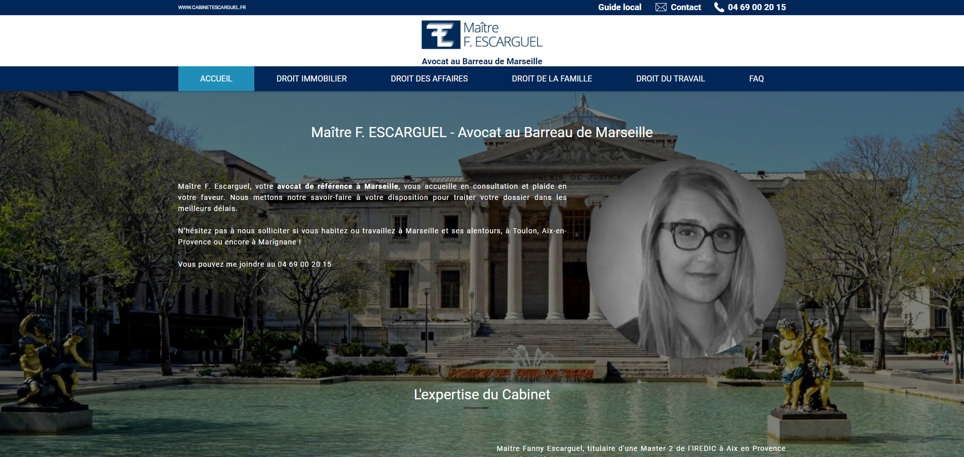 e327ca4f795 Création de site internet pour avocat en droit de la famille sur Marseille  ...