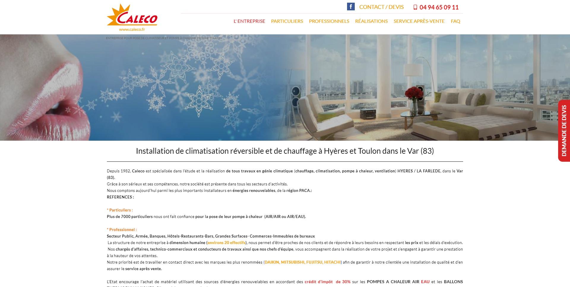 Credit Impot Chauffage Reversible site internet et référencement pour installateur de clim et