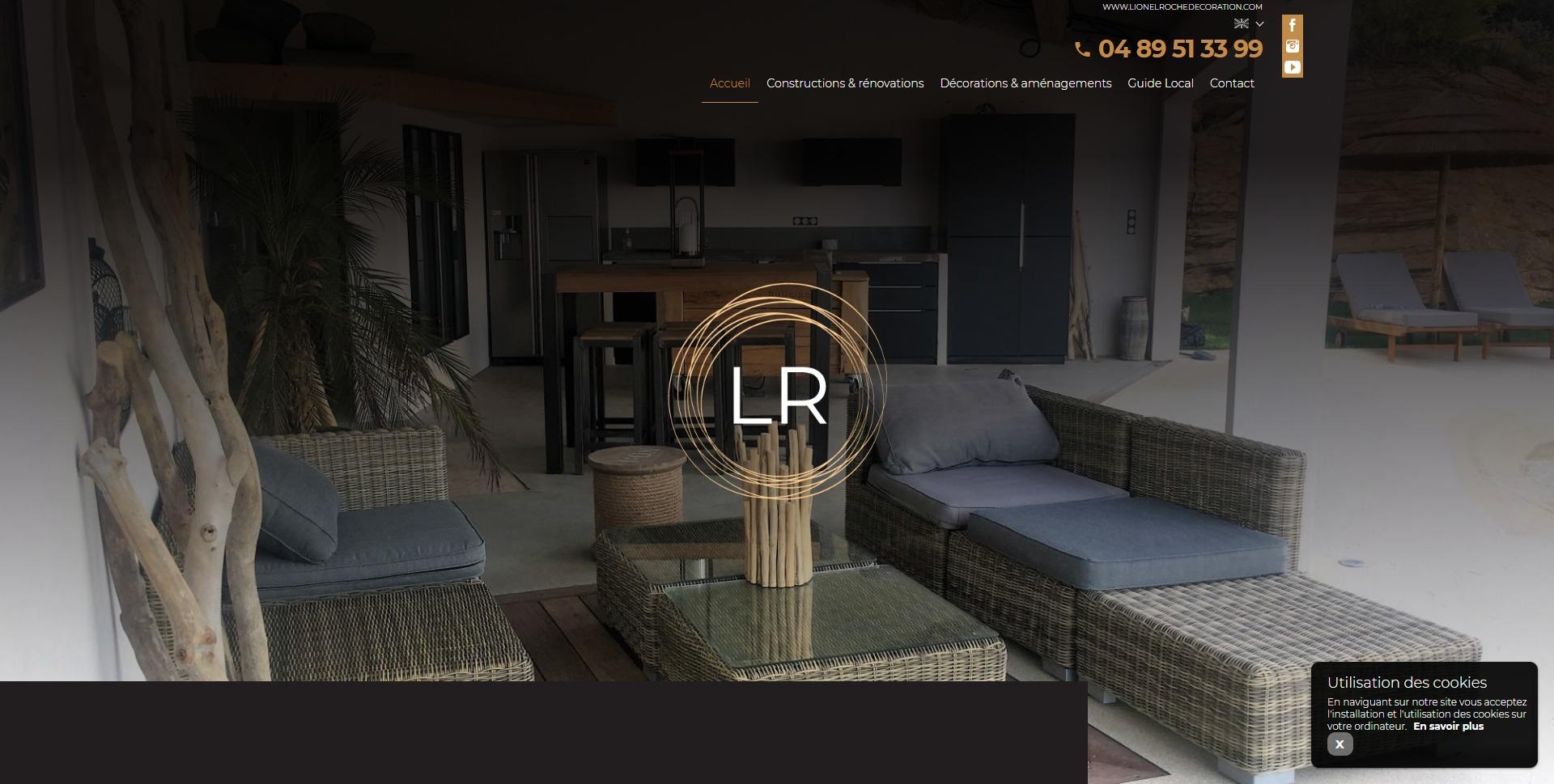 Site Internet Decoration Intérieure création de site internet et référencement pour architecte d