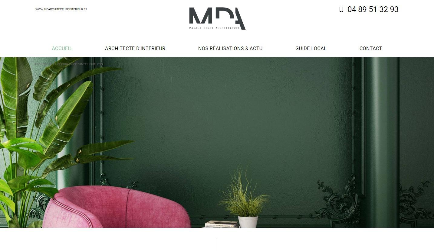 Site Internet Decoration Intérieure réalisation de site internet pour un cabinet d'architecte à