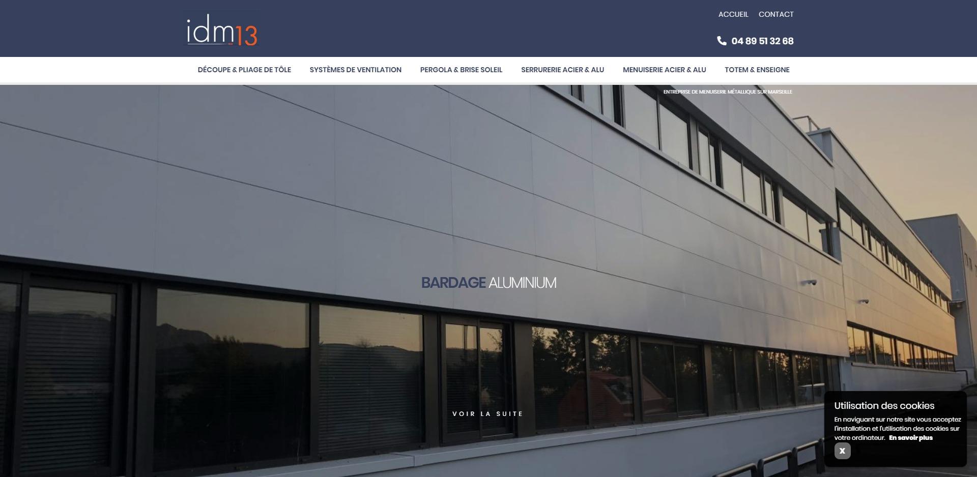 Création et référencement de site internet pour Atelier de découpe ...