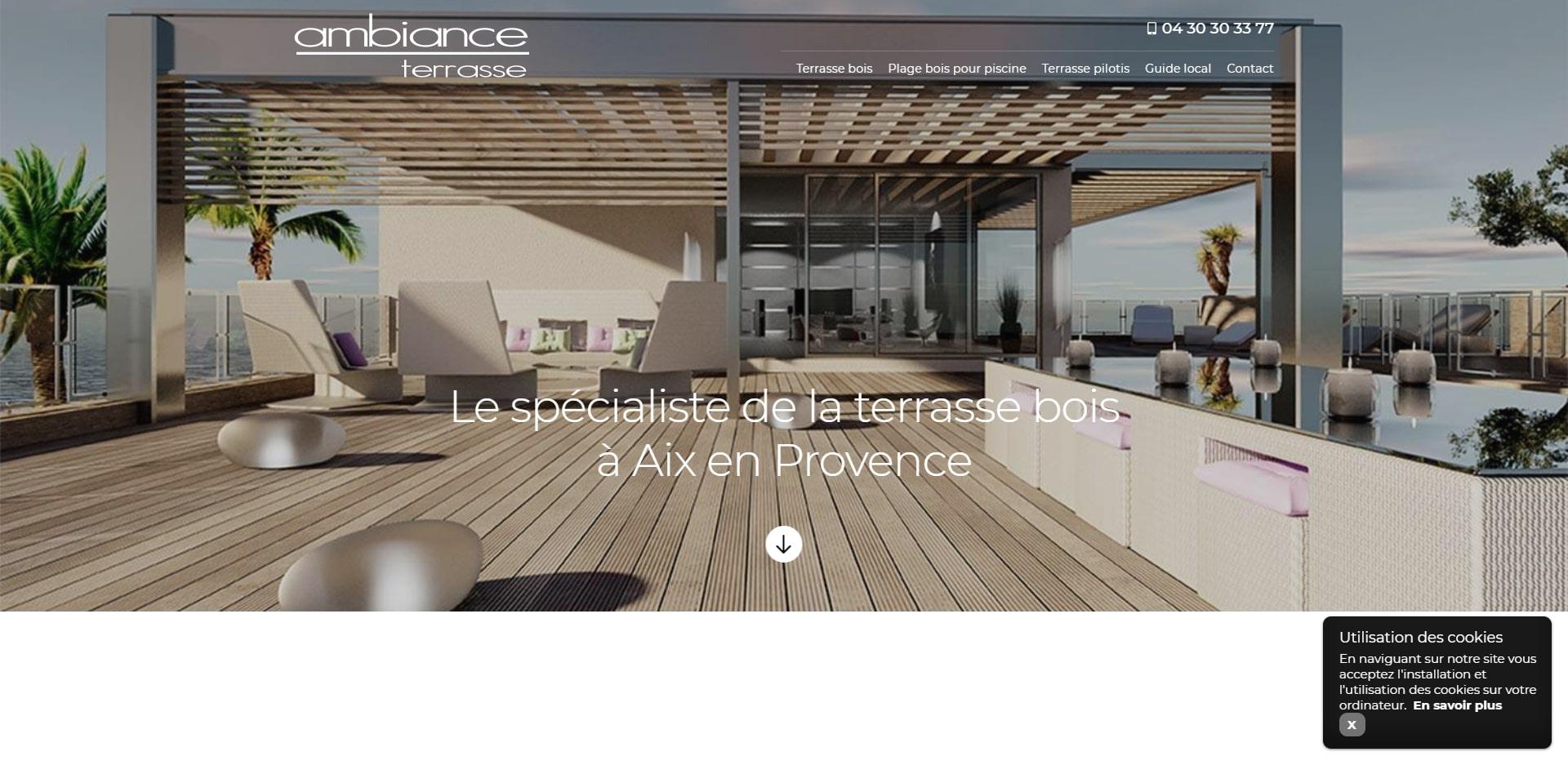 Vente Bois Pour Terrasse vente et installation terrasse en bois vers aix - ambiance