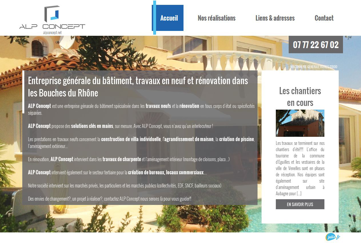 Entreprise Generale De Batiment 77 entreprise générale du bâtiment à istres - alp concept - jalis