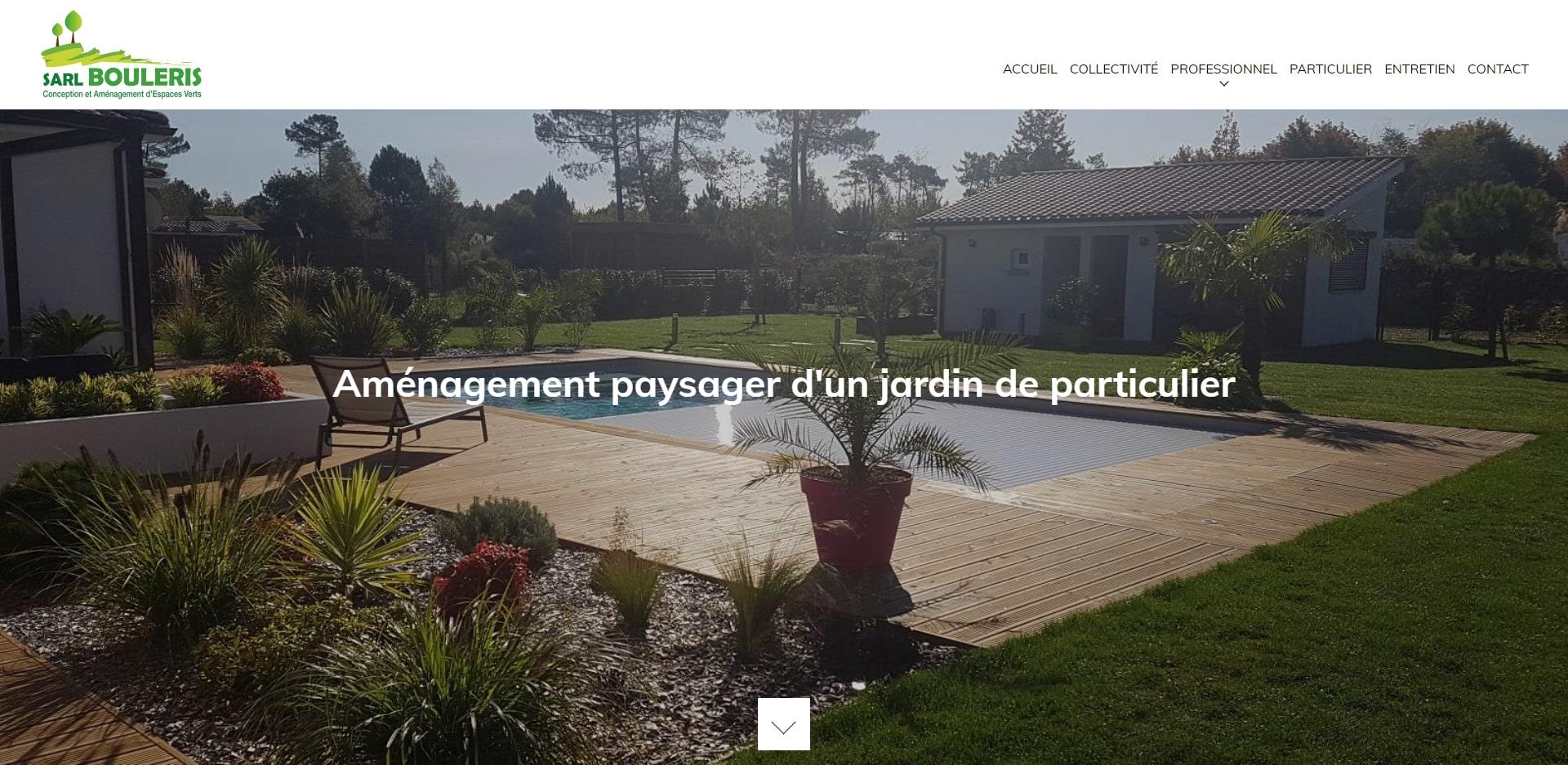 Trouver Un Jardinier A Domicile réalisation du site internet pour une entreprise de