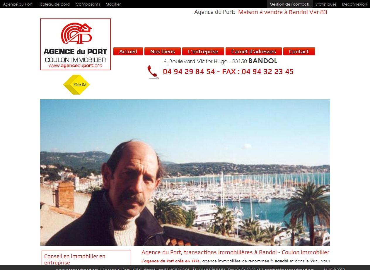 Agence immobili re bandol 83150 agence du port agence - Agence du vieux port saint cyr sur mer ...