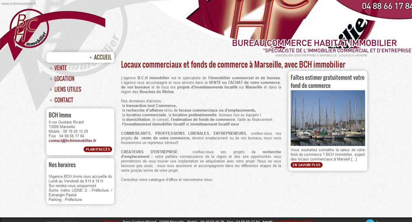 Agence immobilière d'entreprise et commerce à Marseille