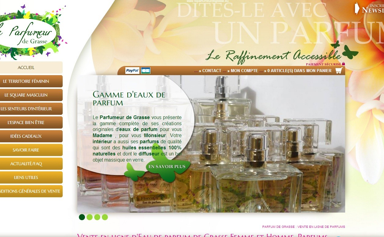 Boutique en ligne d 39 un artisan parfumeur le parfumeur de for Bouquet en ligne
