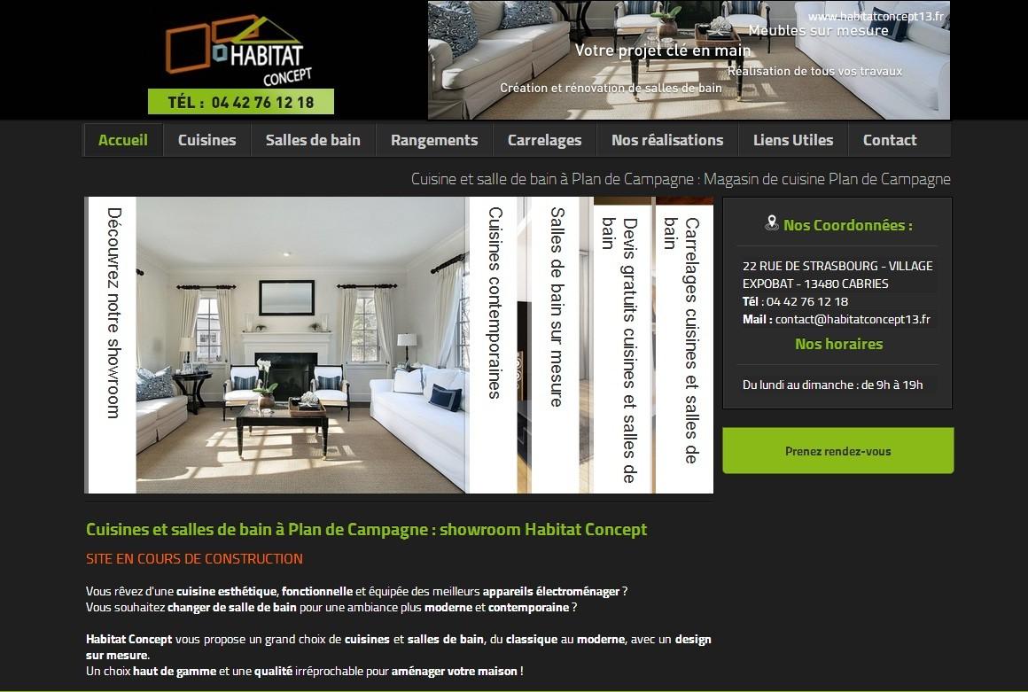 Magasin de salle de bain et cuisine plan de campagne habitat concept jalis - Magasin cuisine et salle de bain ...