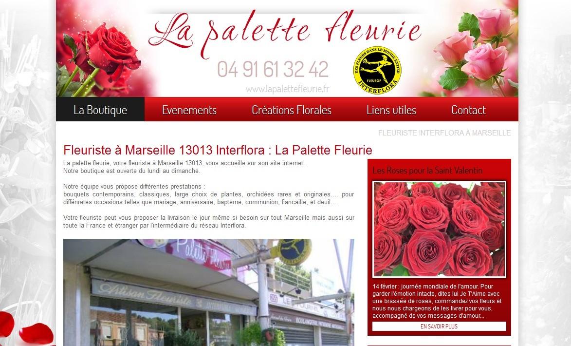 fleuriste interflora sur marseille 13013 la palette fleurie agence web marseille jalis. Black Bedroom Furniture Sets. Home Design Ideas