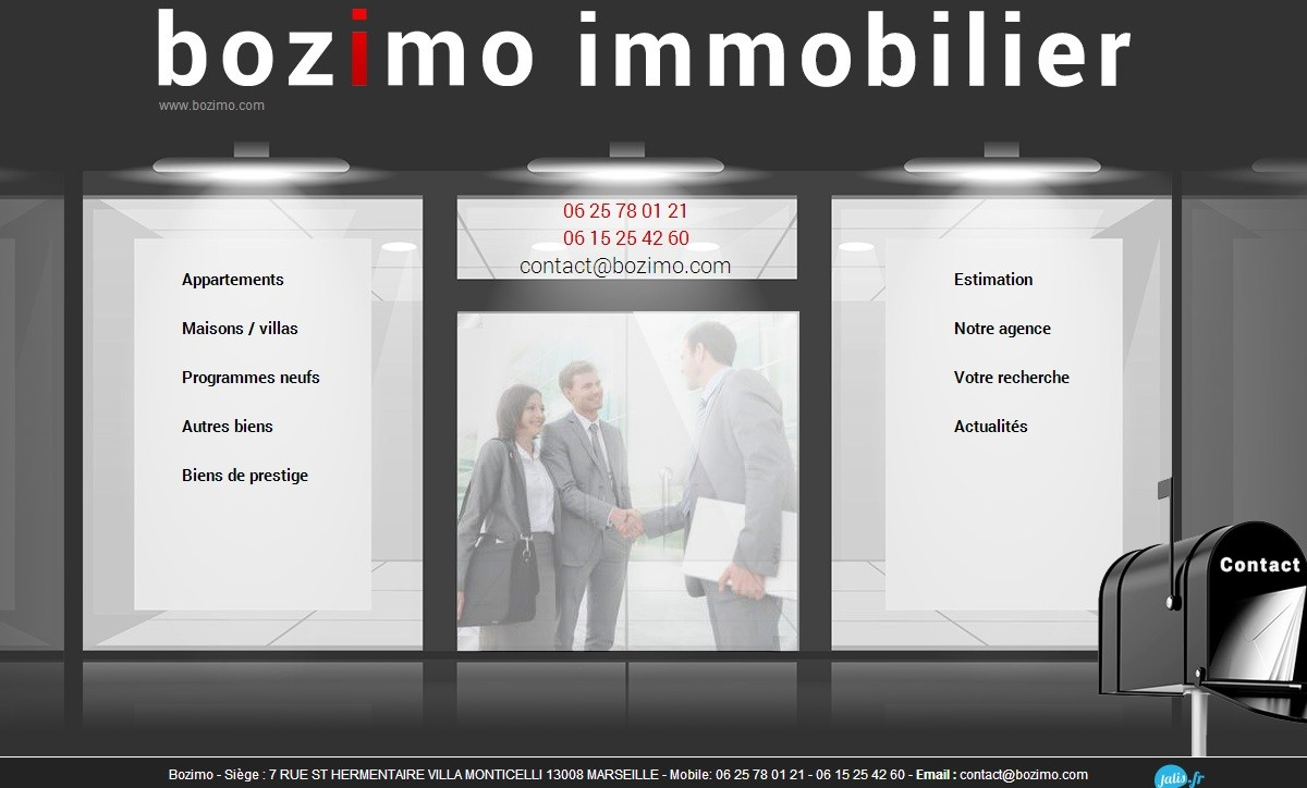 Agence immobili re marseille 13008 bozimo agence web for Agence immobiliere 13008