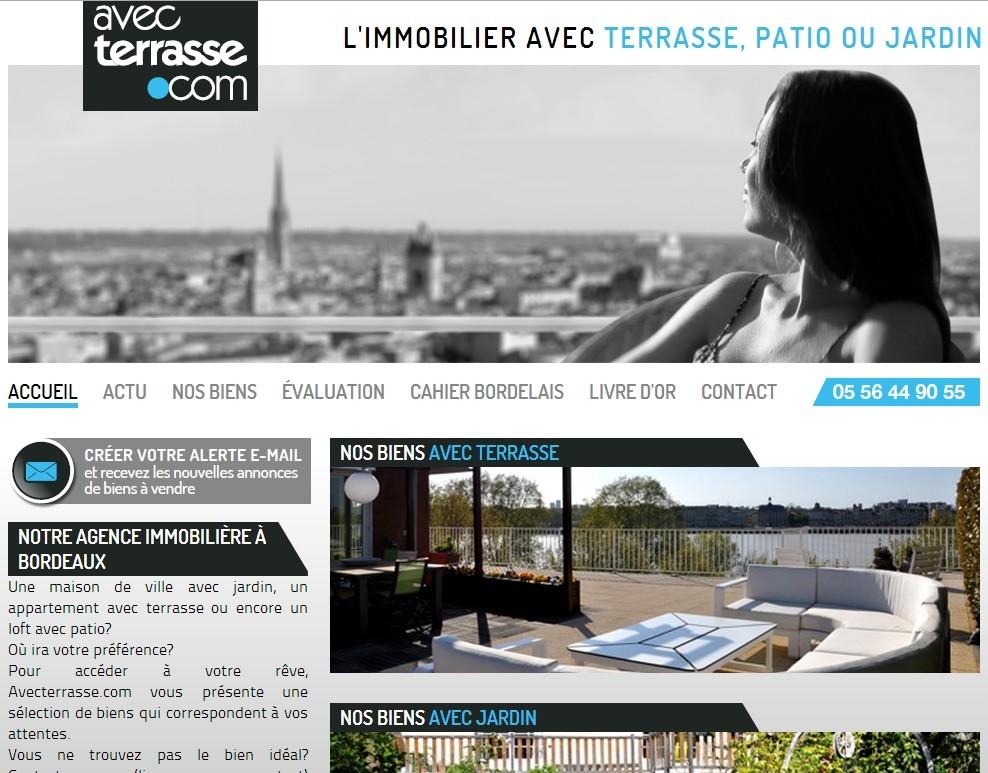 Agence immobili re de prestige bordeaux avecterrasse for Agence immobiliere prestige bordeaux