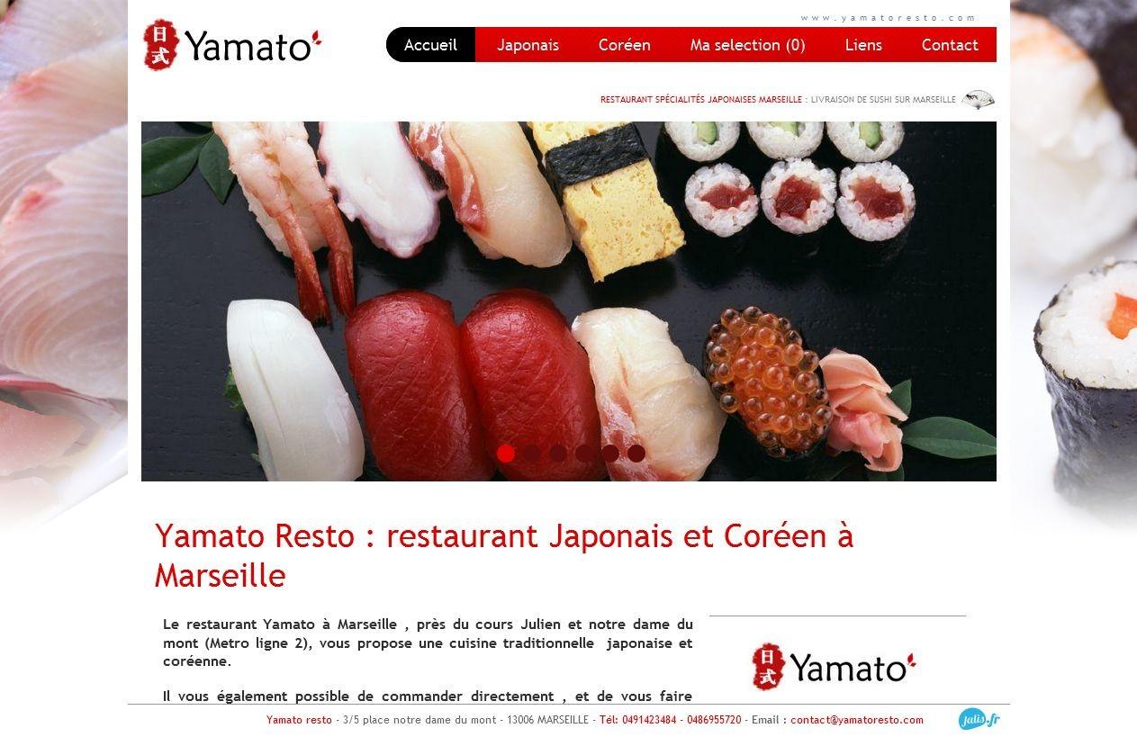 restaurant japonais et cor en marseille yamato resto. Black Bedroom Furniture Sets. Home Design Ideas