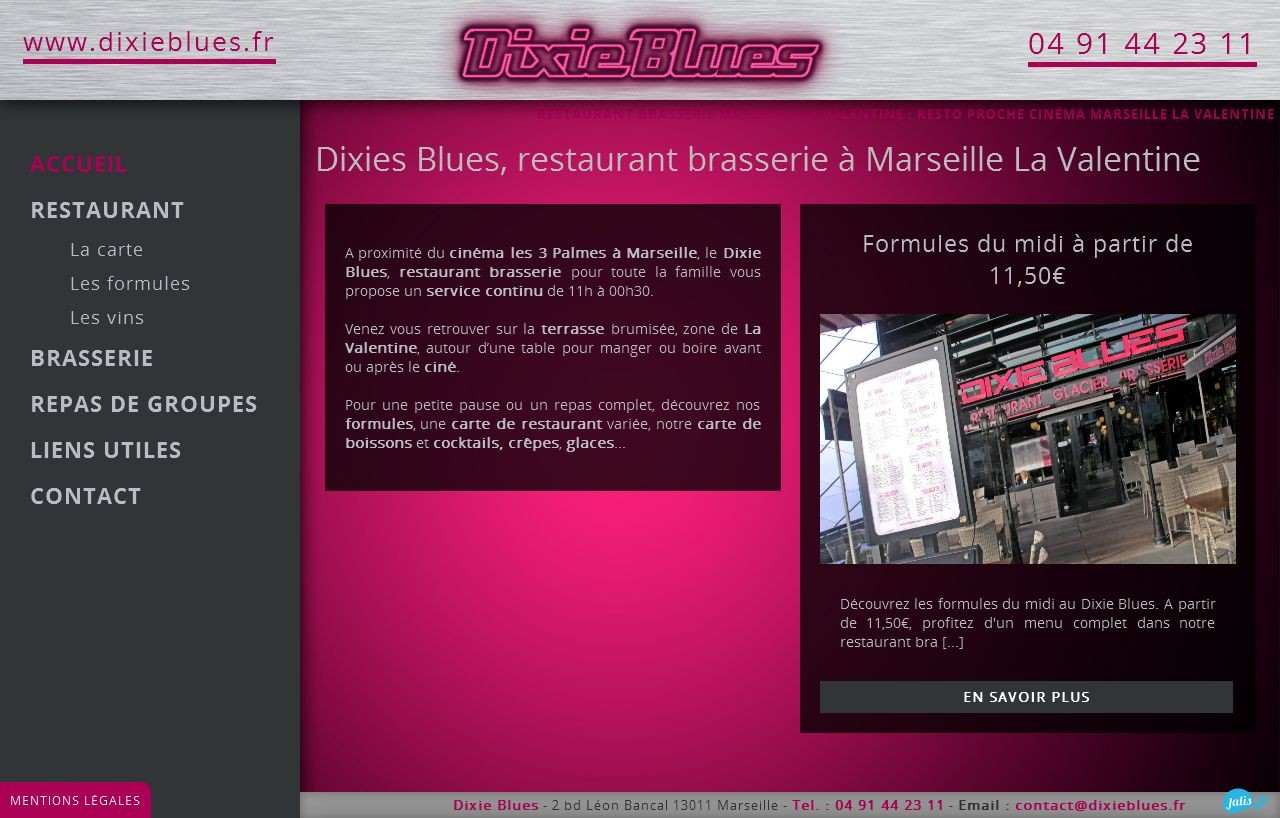 restaurant proche du cin ma marseille la valentine dixie blues jalis. Black Bedroom Furniture Sets. Home Design Ideas