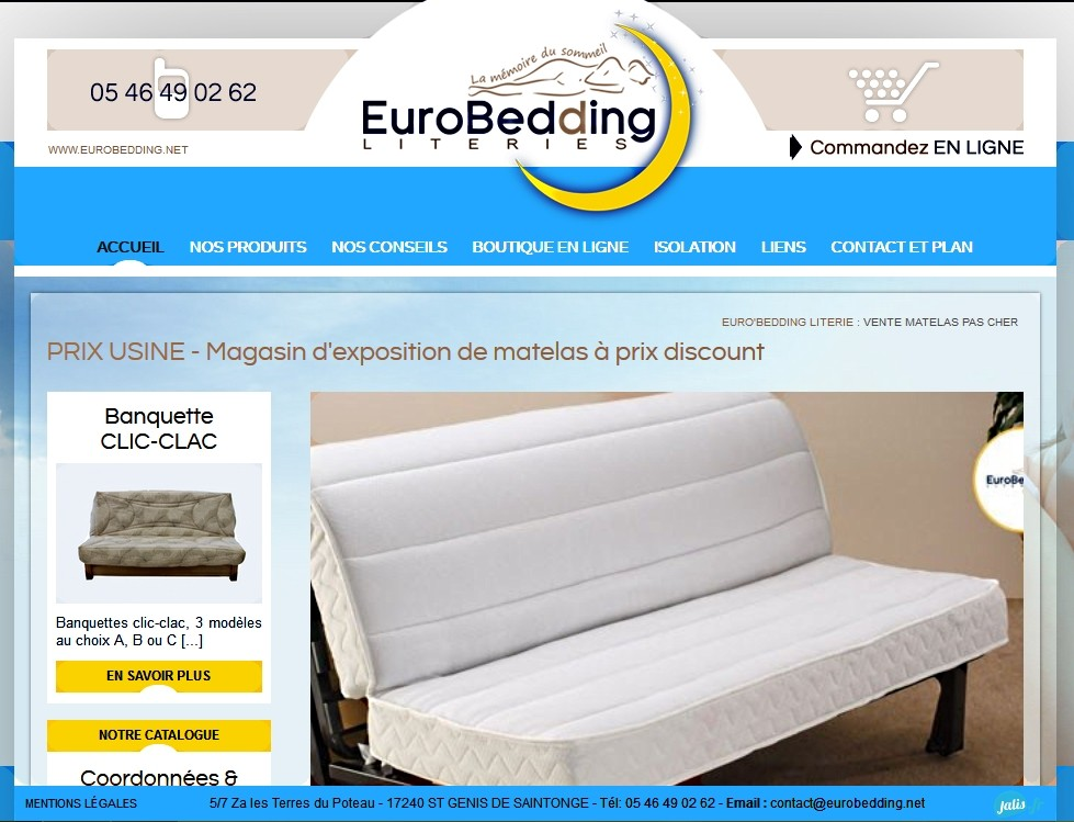 vente en ligne matelas pas cher sur mesure eurobedding. Black Bedroom Furniture Sets. Home Design Ideas