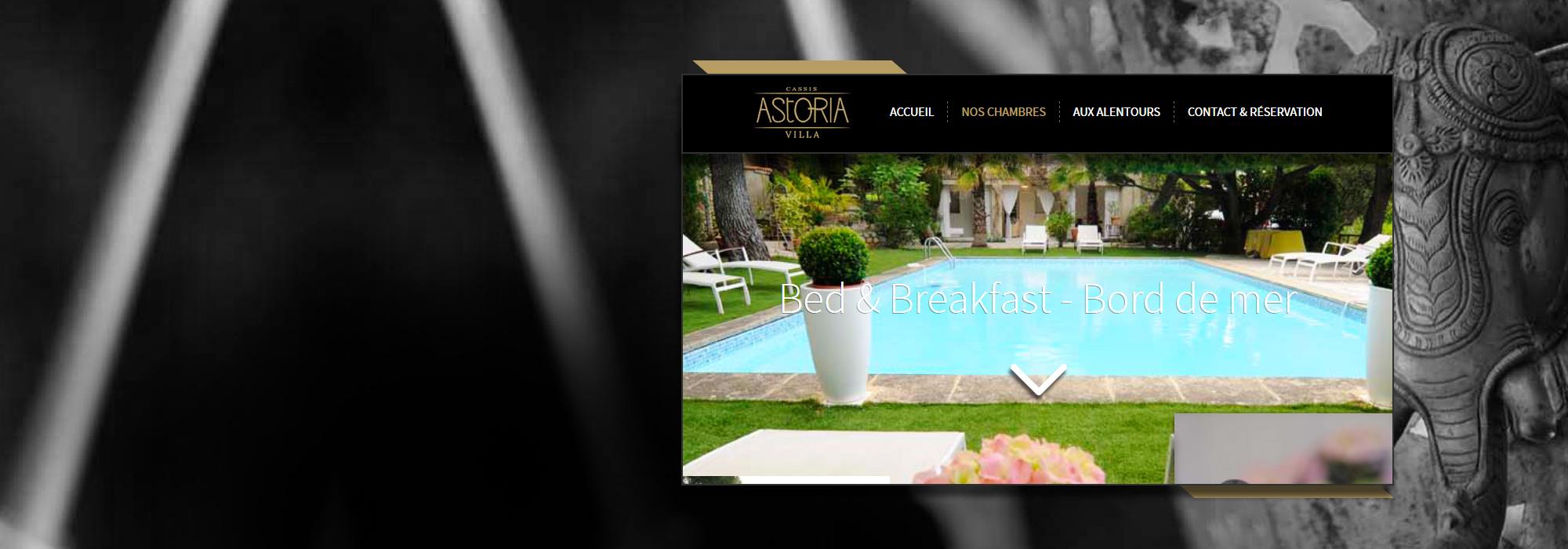 Chambre d'hôtes avec piscine avec vue sur mer sur Cassis - Astoria Villa