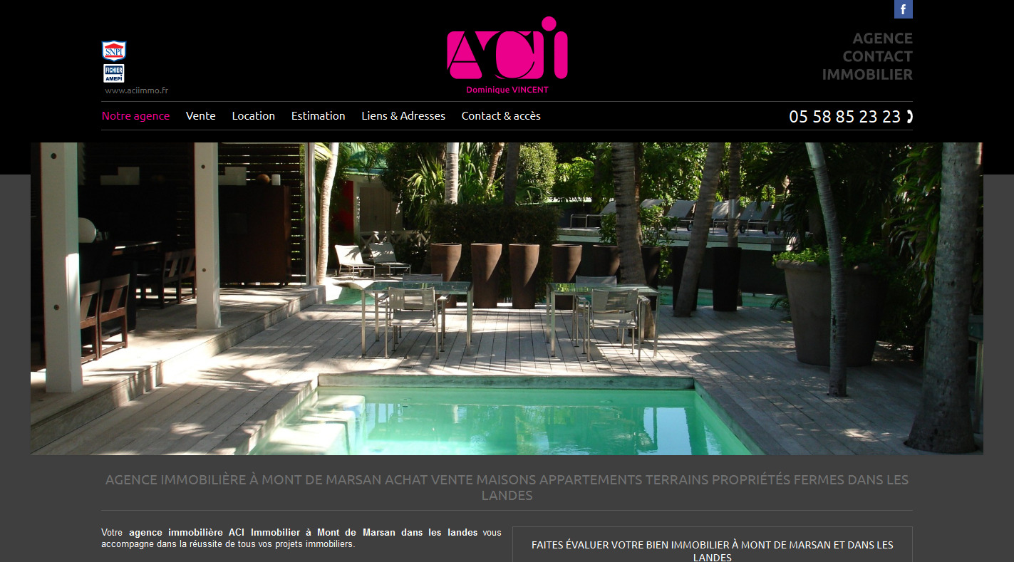 Agence immobili re mont de marsan aci site internet for Agence immobiliere site