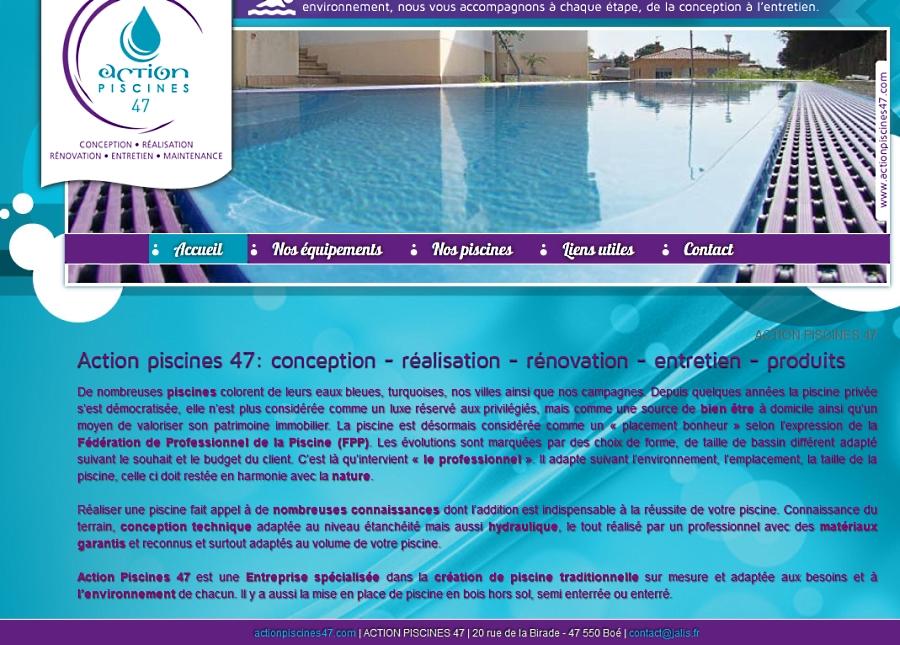 R alisation sur mesure et entretien de piscine dans le lot for Accessoire piscine dans le 47