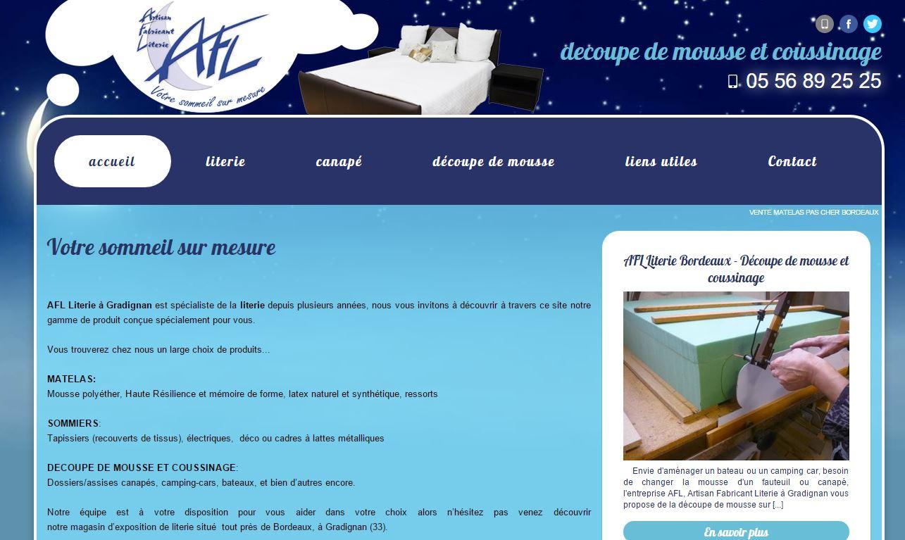 magasin de literie prix discount sur bordeaux afl literie jalis. Black Bedroom Furniture Sets. Home Design Ideas