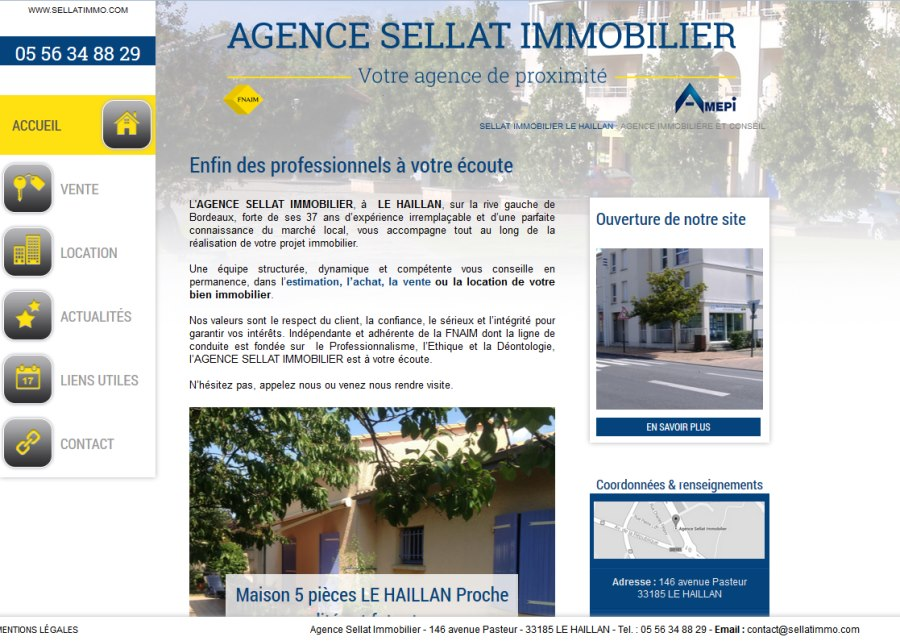 Sellat immobilier agence immobili re sur le secteur du for Agence immobiliere site