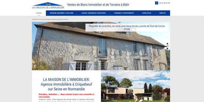 agence immobiliere sur Criquebeuf sur Seine