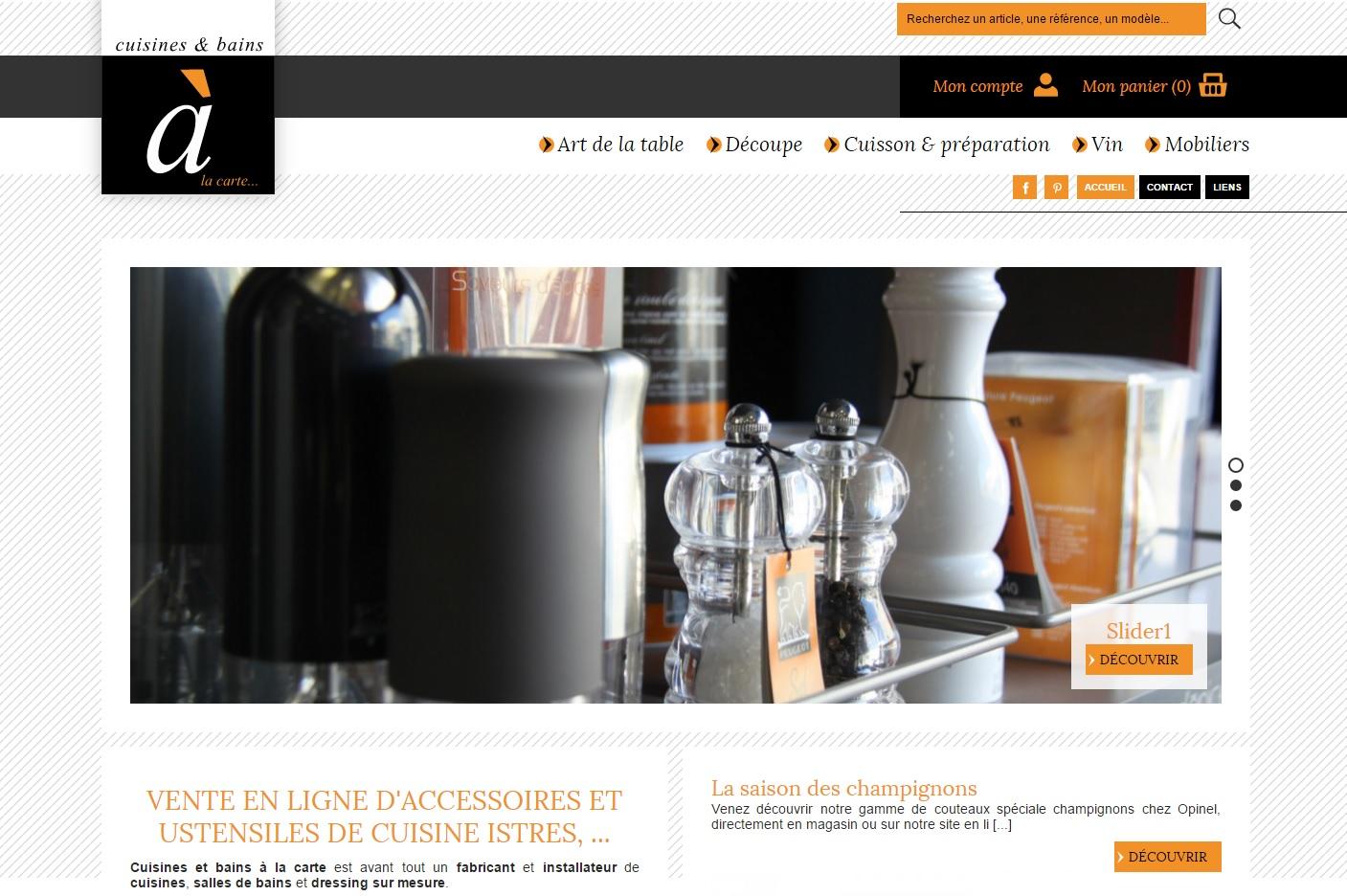 Boutique en ligne d 39 accessoires et mobiliers de cuisine for Boutique accessoire cuisine