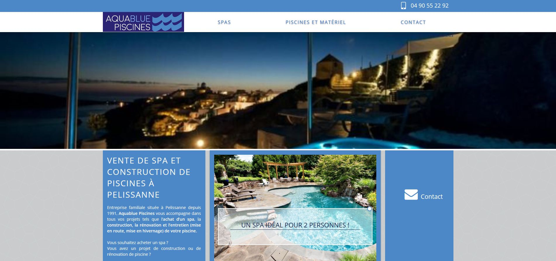 Vente de spas salon de provence aquablue piscines - Agence de communication salon de provence ...