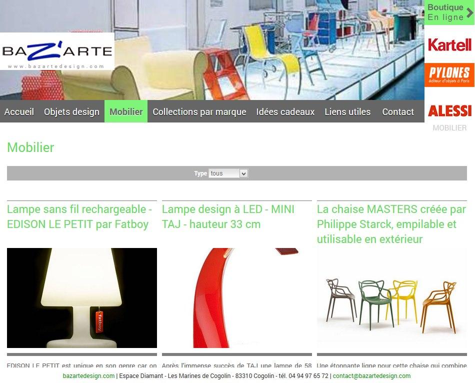 Vente de mobilier design et id es cadeau d co pour la for Idee pour site web