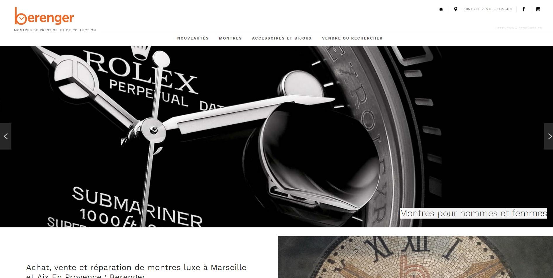 5b4f0fc43a3e Agence web Jalis Marseille   Vente de montres de luxe d occasion à  Marseille et Aix-en-Provence - Berenger