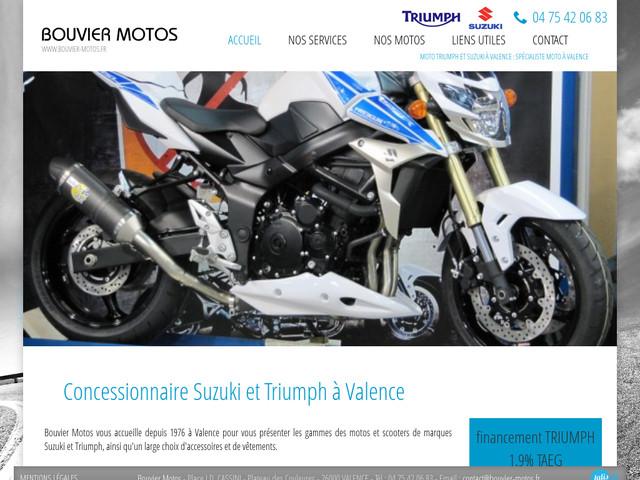 le sp cialiste des motos triumph et suzuki valence bouvier motos agence web marseille jalis. Black Bedroom Furniture Sets. Home Design Ideas