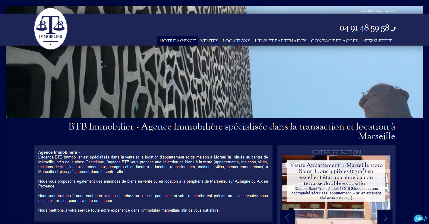Agence immobili re marseille 13006 btb immobilier for Agence immobiliere 13006