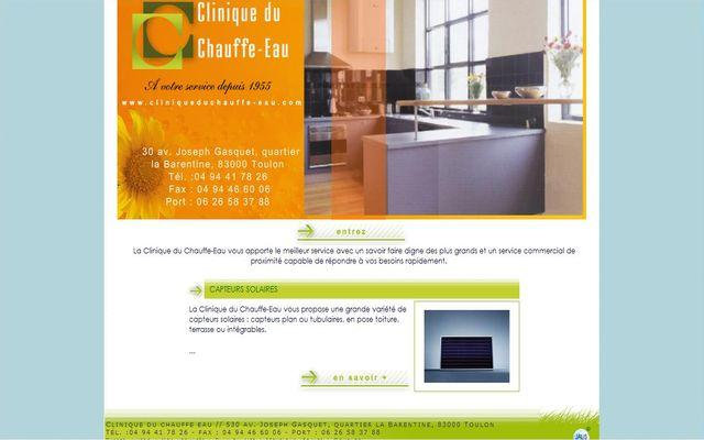 clinique du chauffe eau r alisations agence de communication web marseille jalis. Black Bedroom Furniture Sets. Home Design Ideas