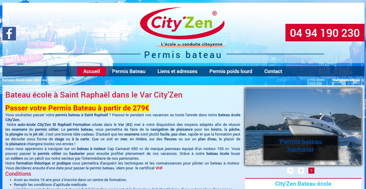 permis bateau pas cher fr jus city 39 zen site internet automobile jalis. Black Bedroom Furniture Sets. Home Design Ideas