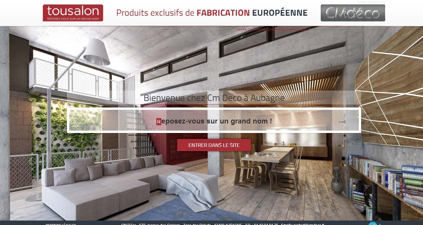 Vente de canap s et fauteuils aubagne cm d co r alisations agence de comm - Site de vente de canape ...