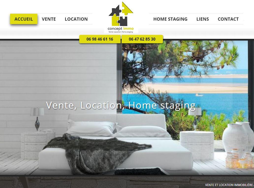 Location, vente immobilière et home staging
