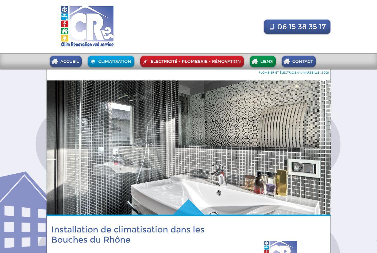 plombier et lectricien pour l 39 installation de climatisation sur marseille cr2s agence web. Black Bedroom Furniture Sets. Home Design Ideas