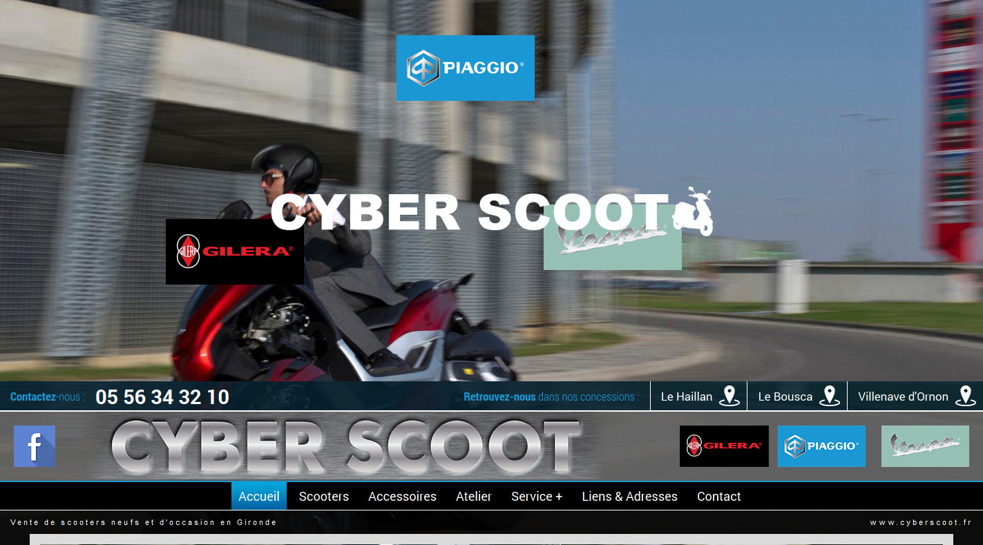 vente de scooters bordeaux cyber scoot agence web marseille jalis. Black Bedroom Furniture Sets. Home Design Ideas