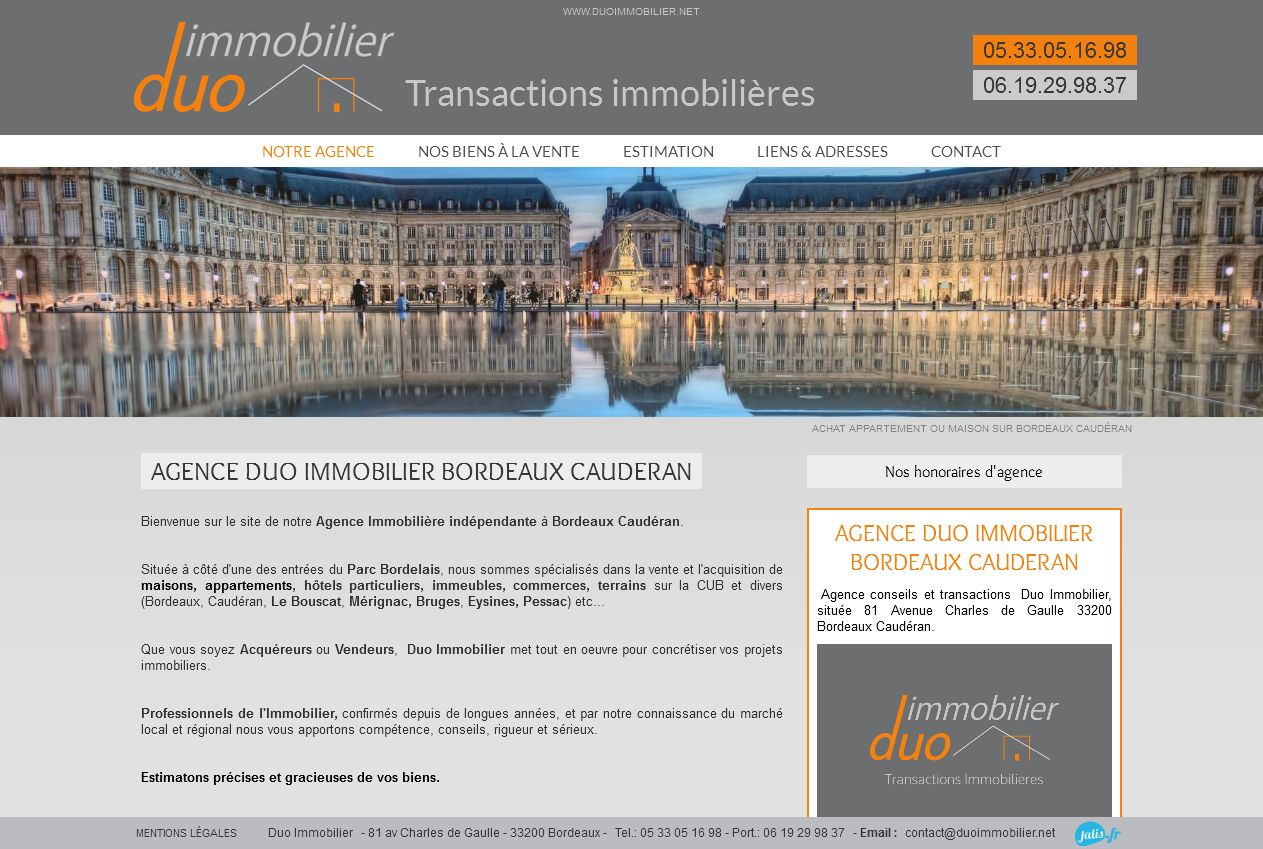 Agence immobili re bordeaux caud ran duo immobilier for Agence immobiliere bordeaux cauderan