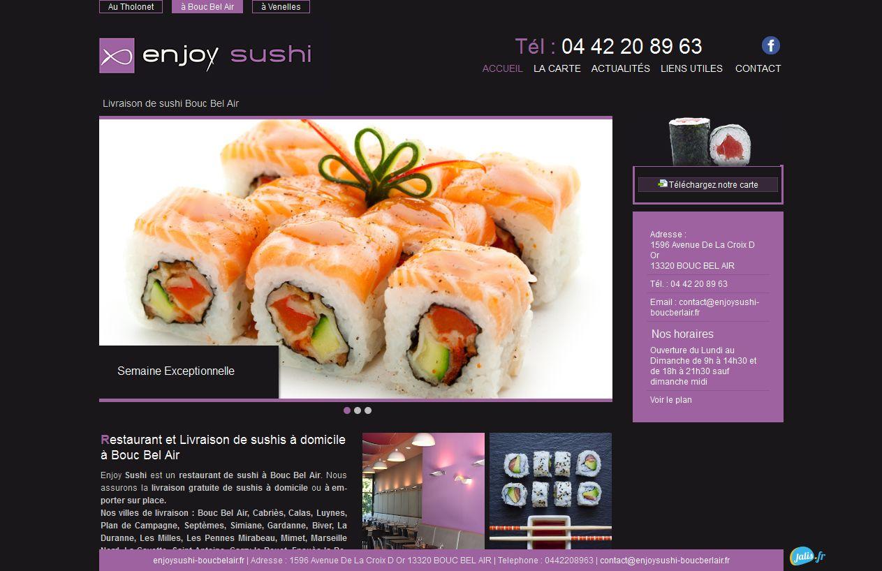 Livraison à domicile de sushis à Bouc Bel Air - Enjoy Sushi - Jalis