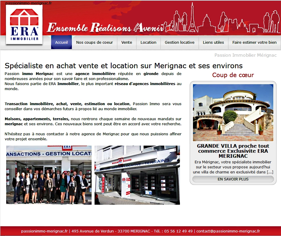Agence immobili re era sur m rignac passion immo for Agence immobiliere era