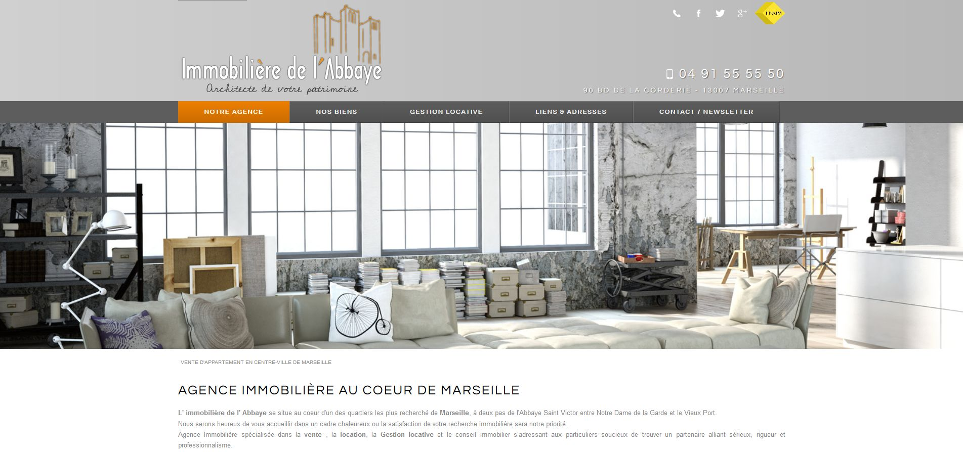 Agence immobili re marseille 7 me immobili re de l for Agence immobiliere site