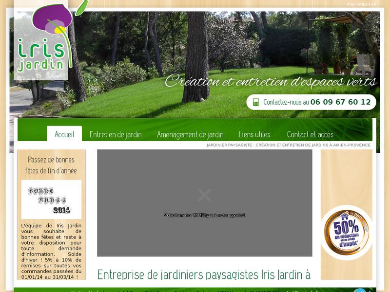 Cr ation et entretien de jardins aix en provence iris for Entretien jardin marseille