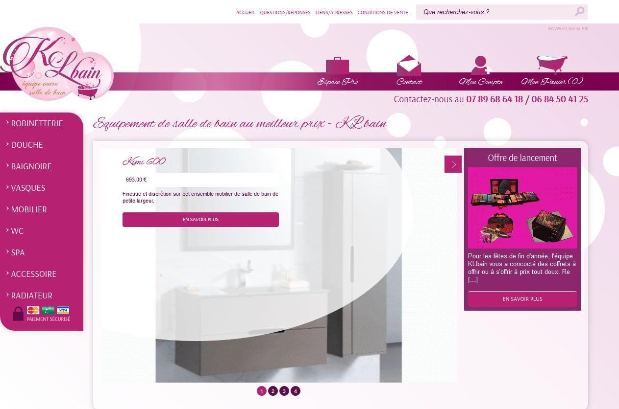 Vente en ligne de robinetterie et de mobilier de salle de for Salle de bain en ligne