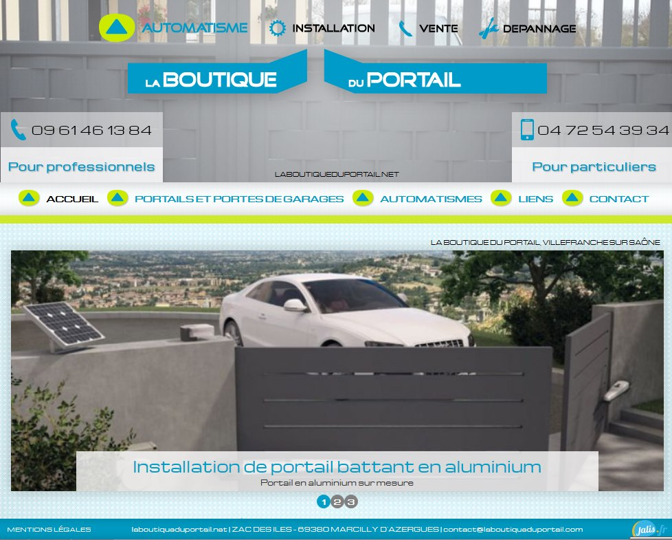 devis et prix pour la pose d'un portail design sur Lyon