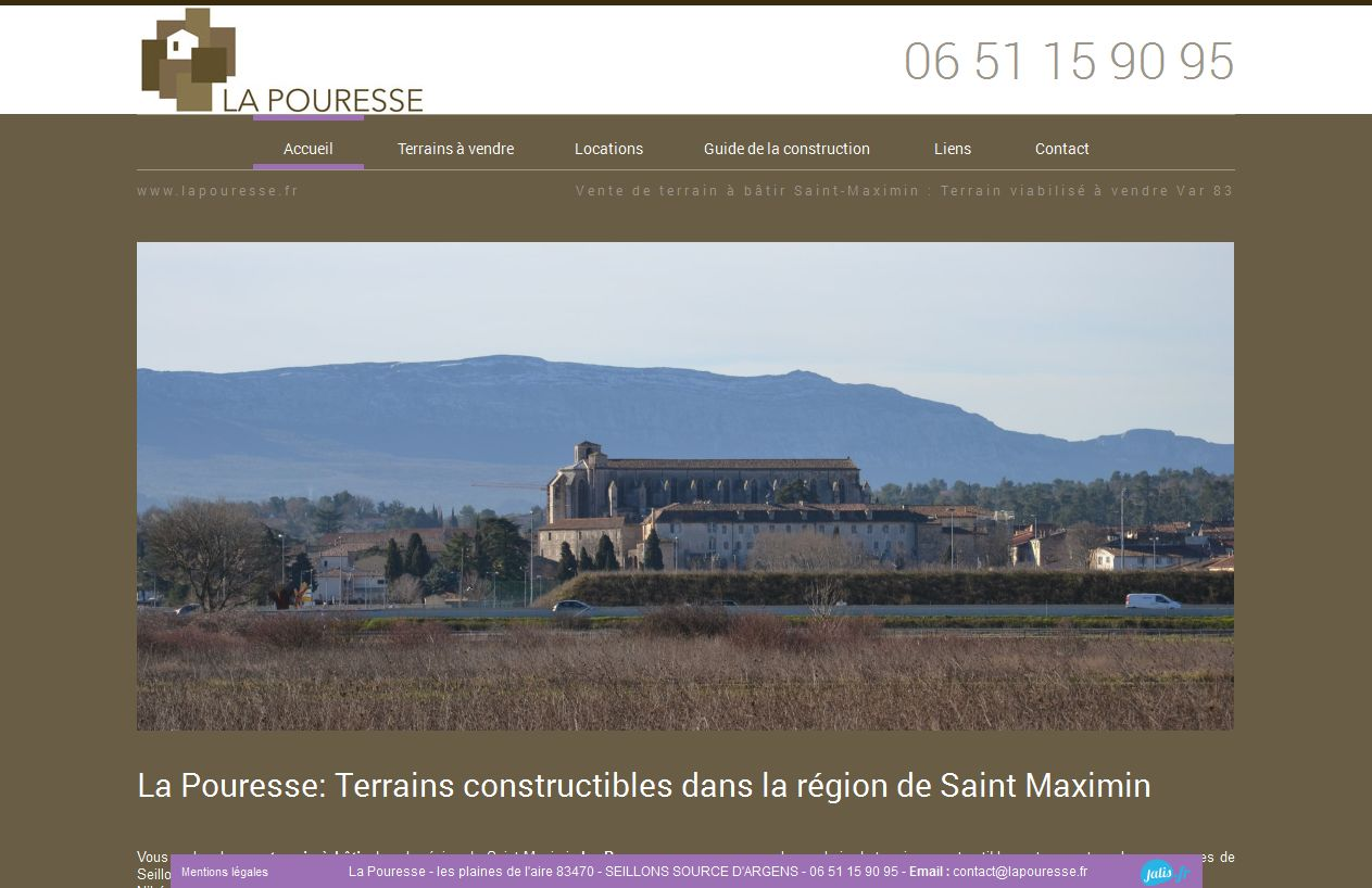Vente de terrain à Saint-Maximin
